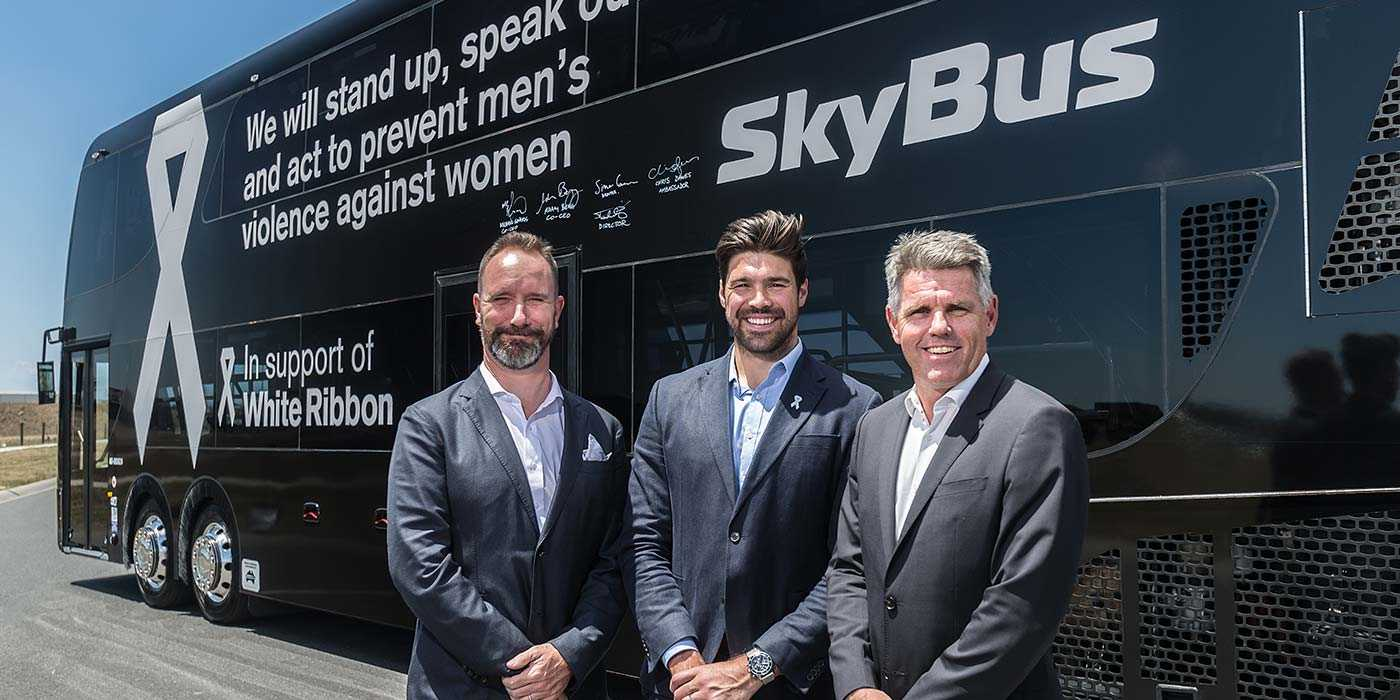 SkyBus' Big White Ribbon Day Oath