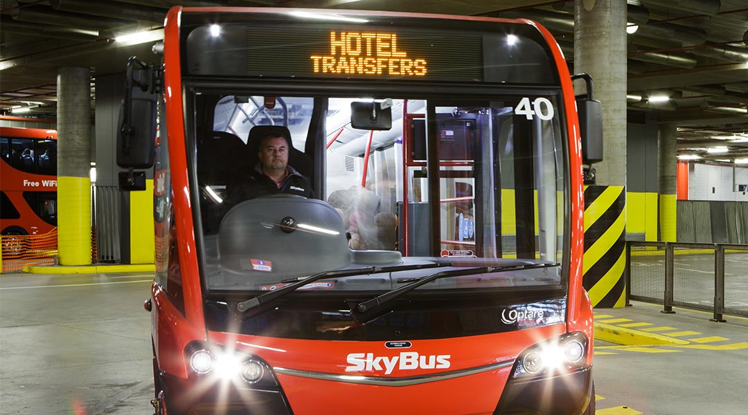SkyBus City Hotel Shuttle at Hotel Windsor