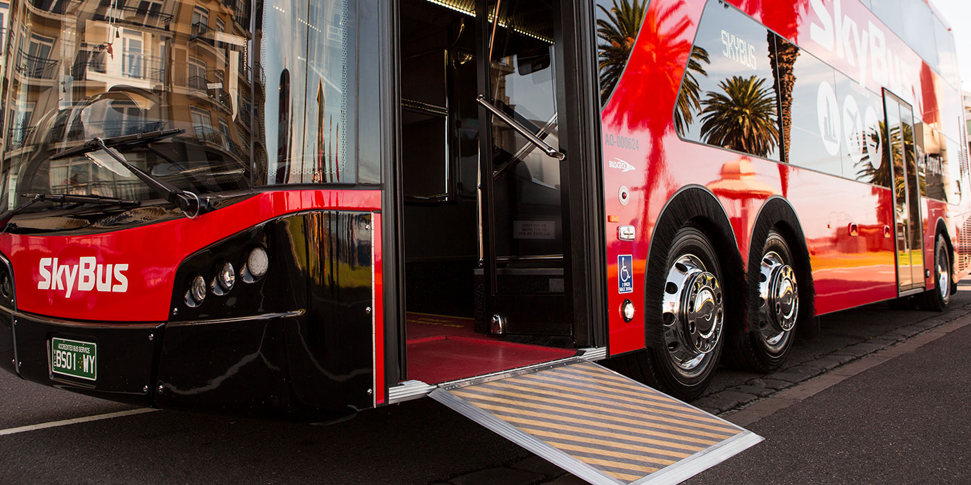SkyBus mobility enhanced buses