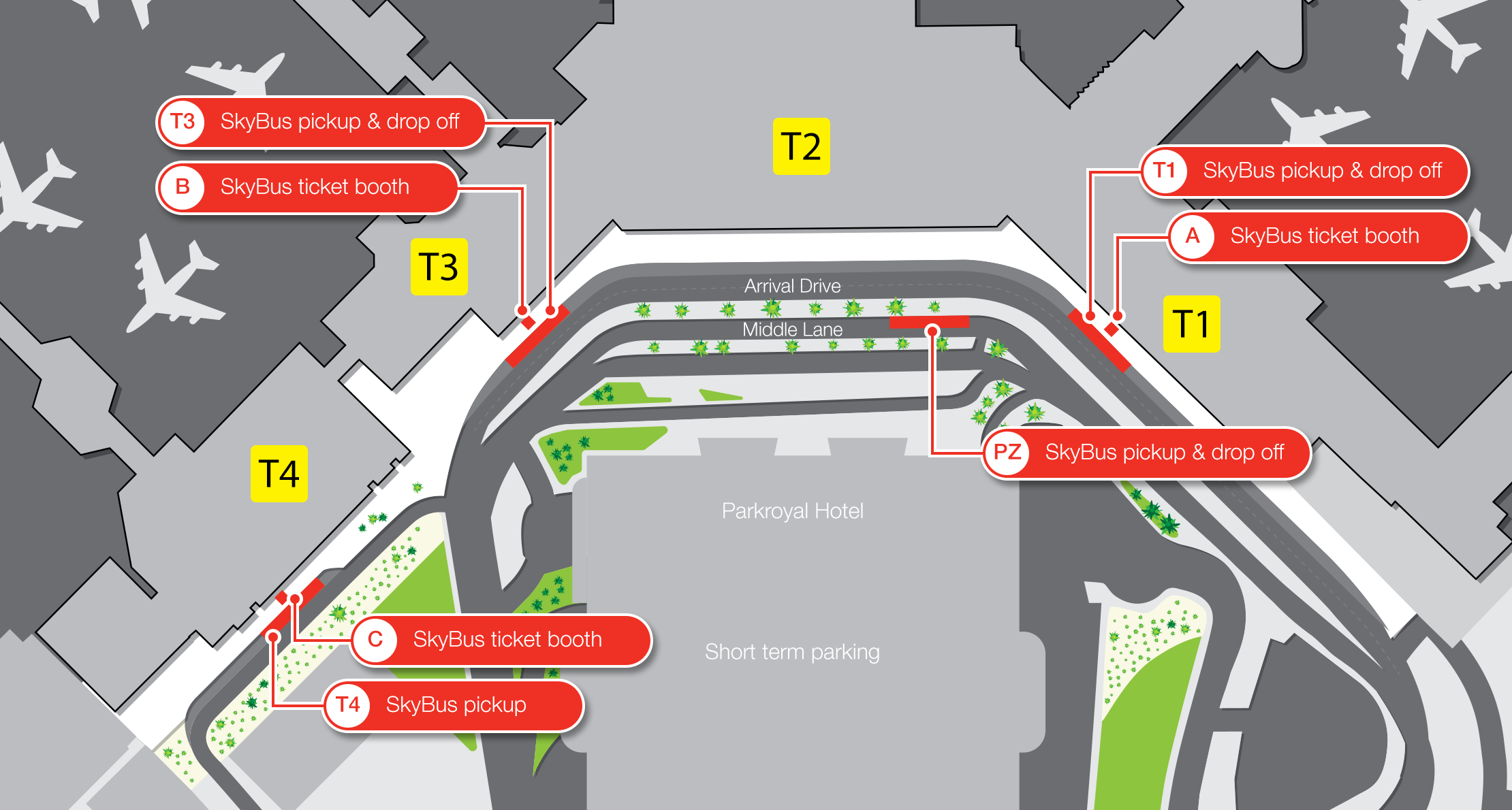 Melbourne Airport map