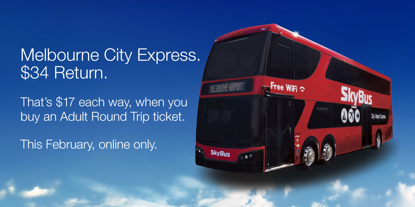 Melbourne City Express. $34 Return