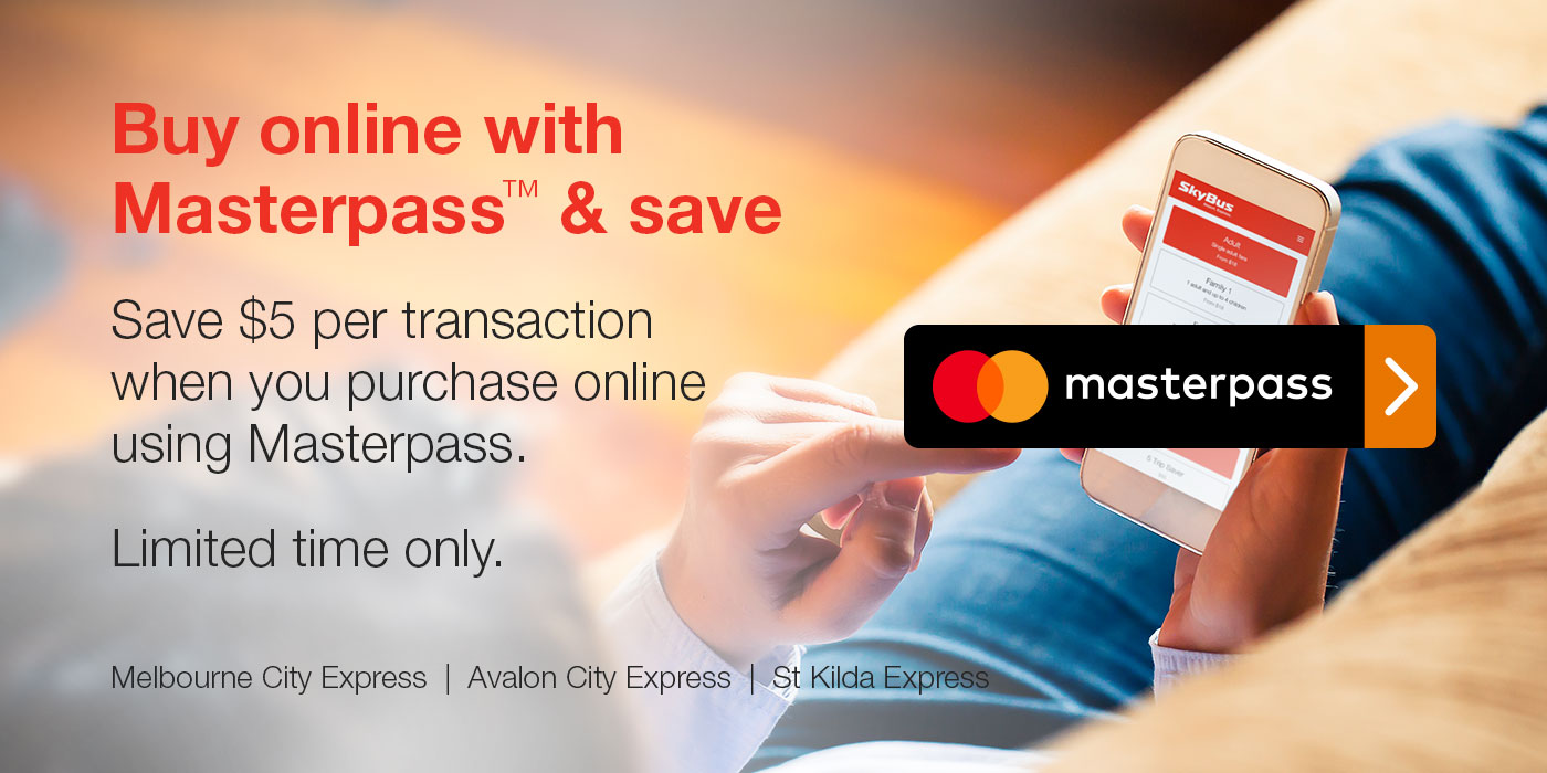 Buy online with Masterpass™ and save