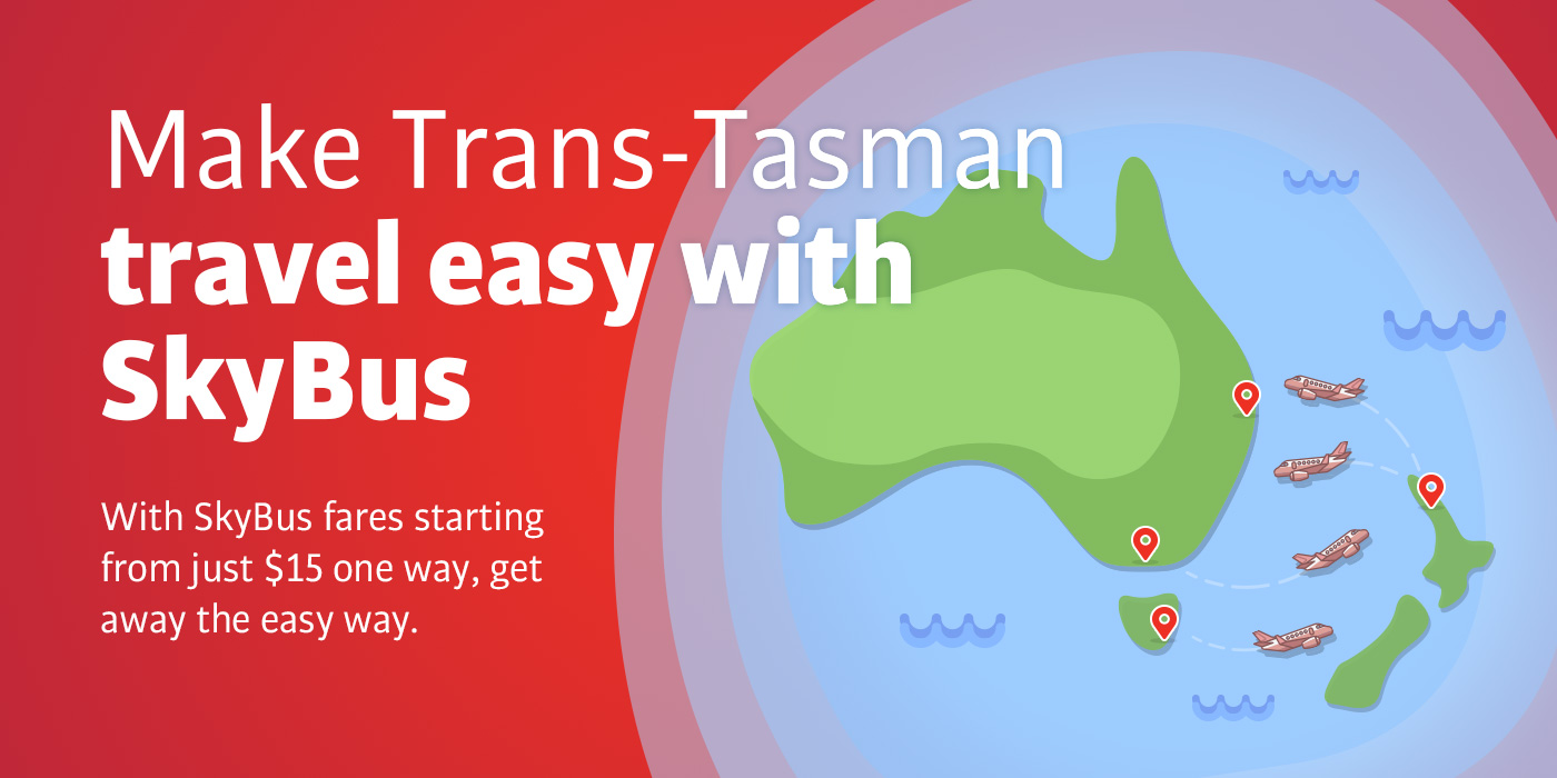 Make Trans-Tasman travel easy with SkyBus